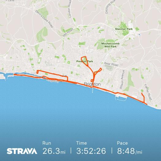 Brighton Marathon Strava Stats