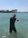 Rocking the wet suit